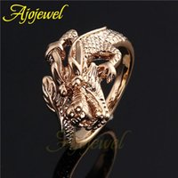 Wholesale Size New Animal Jewelry Vintage K Rose Gold Plated Dragon Ring