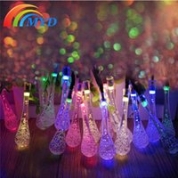 led christmas icicle lights - Solar Power String Fairy Light Water Column Icicles Style LEDs Color Changeable festival christmas decoration