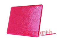 Wholesale Glitter Sparkle bling Crocodile Leather style Hard Case Cover for Macbook Air Retina Pro Protector