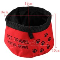 big dog dish - Big Discount Blue Red rainproof waterproof Pet Dog Cat Foldable Outdoor Travel Camping Food Water Feeder Bowl Dish New