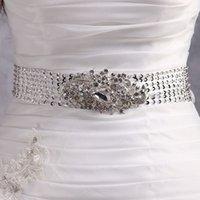 Wholesale Handmade Sew Crystal Bridal Sash New Beaded Soft Stain Wedding Belt Style Free Size