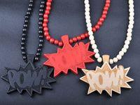 Unisex goodwood - BEST PRICE High Quality Hiphop Men necklaces Goodwood Pow Pendant Necklace wooden jewelry