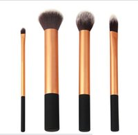 Wholesale With Original PET Box Real RT High Quality New Makeup Brush Set Kit Core Collection Gold Make Up Brushes Cosmetics