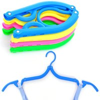 plastic hanger - Candy Color Travel Folding Clothes Hanger Travel Hanger Racks Plastic Hanger