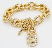 Bangle Celtic Unisex M brand K Circle Padlock bracelet for women men vintage jewelry chain titanium steel gold love bracelets bangles loom bands bangle