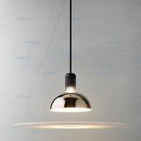 aluminium pendant lights - Flos frisbi pendant lamp Acryl Aluminium suspension lighting chandelier designed by Achille Castiglioni Dia cm H73cm E27
