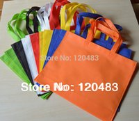 Wholesale non woven bags non woven fabric shopping bag handbag custom logo eco bag cm no side