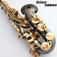 Wholesale 54 F E flat alto saxophone instruments Wind black nickel plated genuine gold