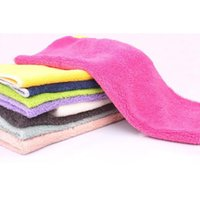 Microfiber kitchen towels - Anti Greasy color bamboo fiber washing clean dish towels wiping dust rags magic Kitchen cleaning cloths