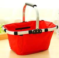 Wholesale Environmental protection shopping basket Oxford fold down shopping bags