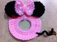 Wholesale Mickey Minnie Minion OWL Cookie Monster Camera Case Cover SLR Camera Lens Buddies Lens Baby Crochet Toy Newborn Photographer Shutter Buddies