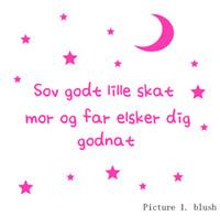 Graphic vinyl baby darling - sweet dreams my darling Danish vinyl wall stickers for baby room decor