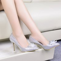 Wedding in style shoes - In stock Fashion style hot Wedding Shoes for wedding shoes Bridal Accessories party shoes