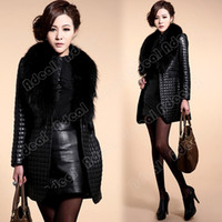 Wholesale Women Winter Warm Faux Leather Fur Coat Long Sleeve Jacket Outerwear SV007257