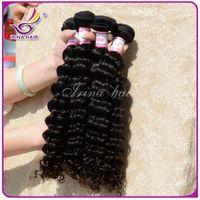 Irina Hair Products 1Piece Sólo 6A Malasia pelo de la Virgen profunda Cury se puede teñir, Malasia profundamente rizado teje 8