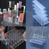 Wholesale 2015 new hot Clear Display Stand Holder Makeup Lipstick Cosmetic Storage tinyaa