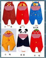 Summer autumn quilt patterns - 6 embroidery pattern Baby Animal Modern swaddle stroller blanket for winter embroidered stroller sleepping bags covers for newborn