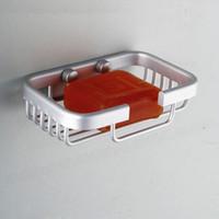 Wholesale Aluminum metal solid soap box bathroom shelf space soap soap clean bathroom accessories