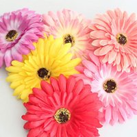 Wholesale 5pcs Gerbera large flower headband hair rope corsage flower hair clip two site hair accessory