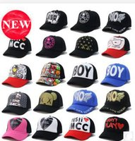 Wholesale DHL FREE Unisex Ball Caps Korean Hiphop Hat Many Design For Boy Girl Peaked Hat Snapback Cap