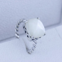 925 sterling silver ring - Big Stone Ring Sell Sterling Silver Gemstone Round Cut Ring Fits Pandora Rings CR007