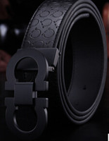 belt black men - New Fashion Mens Business Belts Luxury Ceinture Automatic Buckle Genuine Leather Belts For Men Waist Belt