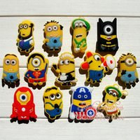 Wholesale Minions Despicable Me hot cartoon Shoe Charms shoe Accessories and Decoration Shoe Ornaments for clogs Kids Party gift