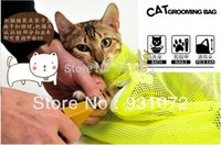 Wholesale a Multifunctional cat Grooming bag cat bags bath bags fitted mesh bag cat clean pet supplies