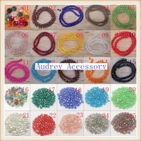 Wholesale pc String Faceted Glass Crystal Beads mm white black color pick fit wrap bracelet f401