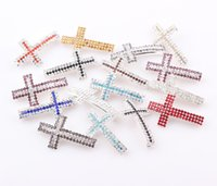 sideways cross charm - Crystal Claw Chain Sideways Cross Connector Rhinestone Cross Links Charms For Bracelet Making FEAL ZBE003