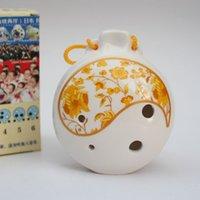 Wholesale Genuine new legislation hole Ocarina Ocarina tune porcelain tin Alto C Ocarina textbooks send birthday gift porcelain porcelai
