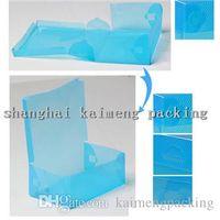 shoes box design - DIY design folding shoe box new plastic packing box PP shoe box style