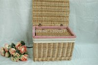 Wholesale 2pcs storage set organizer set wicker vase wicker willow basket laundry basket