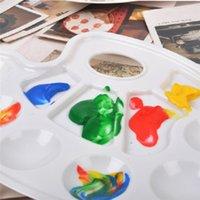 Wholesale New painting tools Art Paint Palette Tray Artist Watercolor Plastic Palette White High qualit