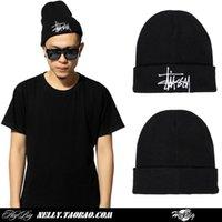 Cheap Hat Korean wave skateboard letter wool cap hat hip hop male warm winter knit hat winter hat female