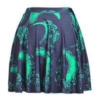 big diagrams - Summer new digital printing black green diagram skirt big skirt skirts a generation of fat Skt