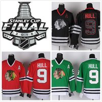 Ice Hockey Men Full Retail   Wholesale NEW MENS CHICAGO BLACKHAWKS #9 BOBBY HULL GRAY CROSS CHECK PEMIER FASHION PREMIER 100% STITCHED ICE HOCKEY Mix Order