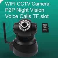 Wholesale Hot sell Wireless IP Camera Support Pan Tilt Two way audio and P2P Plug Play ONVIF SD Card Slot IR Night vision CCTV camera