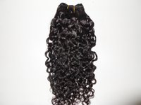 Wholesale brazilian human hair extension grade A hair product unprocessed natural black off color curly machine weaveing weft g one bundle