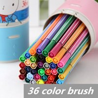 Wholesale 36 color Water color pen brush Marker Highlighter for Kids Stationery copic markers art supplies material school