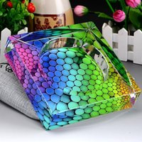 Wholesale New New colorful beads colored translucent crystal ashtray ashtray home office furnishing decorations