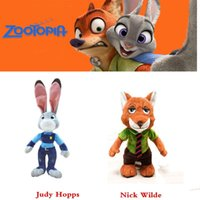 Wholesale 1 Piece Zootopia Judy Nick plush toys Baby Kids Children peluches Doll toy CM CM gift Cartoon