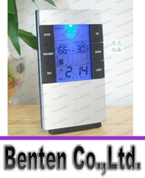 Wholesale High precision Weather forecast Indoor temperature humidity Meter Digital Thermometer Moisture Meter LED Backlight LCD Display LLFA69