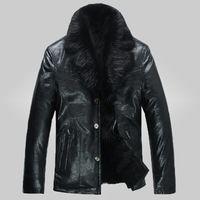 beaver fur jackets - Fall fashion mens quality PU leather jacket winter male Beaver fur Lining parkas men coat plus size S XL wj