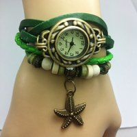 acrylic table wholesalers - Retro Table bracelet watch cute little starfish Korean students watch fashion watch ladies watches Korean fashion wave