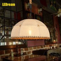american led technology - American art restores ancient ways droplight creative cafe twine technology personality lamp wrought iron restaurant