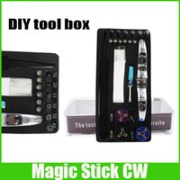 Wholesale RDA pre coil tool Magic stick CW box master vape jig in wire coiling machine koiler kit wick for HELLBOY Bullet