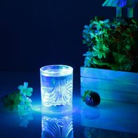 Wholesale 200ml LED Light Up Glass Glowing Flashing Liquid Sensing Multicolor Plastic Tumbler Wine Mug Cup Beer Whisky Party Indoor new DHL L0933