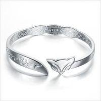 ali heart - Sterling silver bracelet fine silver fox female fashion charm bracelet Ali sent his girlfriend a gift Valentine s Day gift