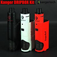 vapor mods - 100 Original Kanger Dripbox Kit ohm ml Subdrip Tank W Dripmod Box Mod KangerTech Topbox mini SUBVOD Mega vapor mods Kits vape cigs DHL